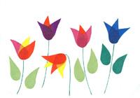 Virágoskert transzparens papírból