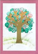 Tavaszi fa parafadugó festéssel