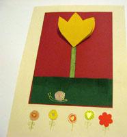 Tulipán hajtogatással