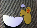 Csirke sablon