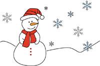 Hóember és hópehely sablonok