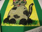 További repedezett hatású kép ötlet - cica