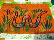 További repedezett hatású kép ötlet - kígyó
